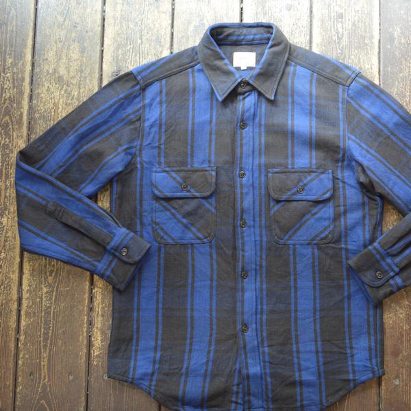 ビッグマイク BIG MIKE ヘビーフランネルシャツ HEAVY FLANNEL SHIRT NAVY/BLACK