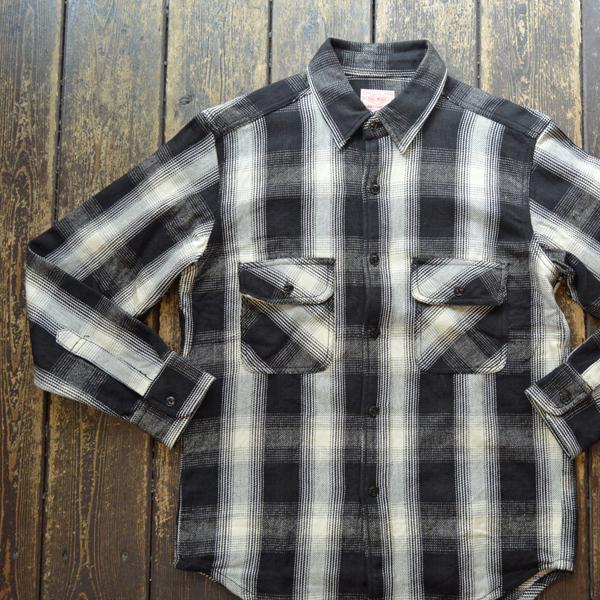 ビッグマイク BIG MIKE ヘビーフランネルシャツ HEAVY FLANNEL SHIRT BLACK/WHITE