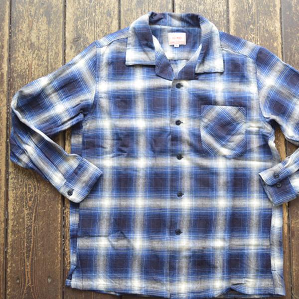 ビッグマイク BIG MIKE ライトフランネルオープンシャツ LIGHT FLANNEL OPEN SHIRT GRAY/NAVY
