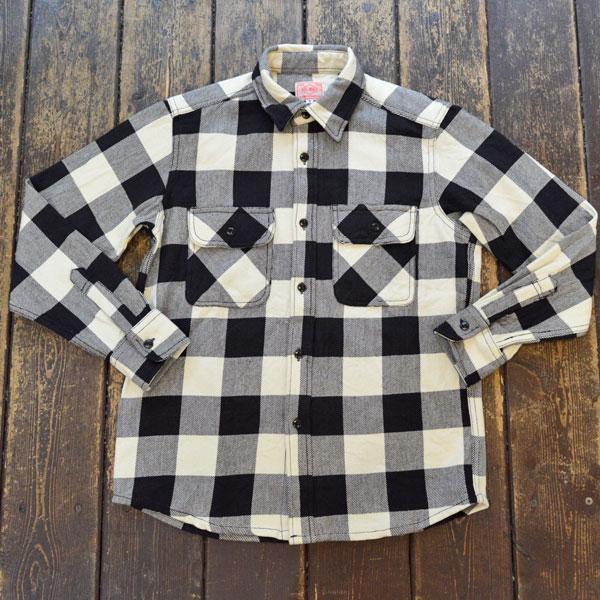 ビッグマイク BIG MIKE ヘビーフランネルシャツ HEAVY FLANNEL SHIRT WHITE/BLACK