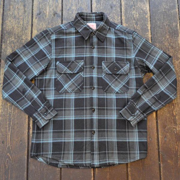 ビッグマイク BIG MIKE ヘビーフランネルシャツ HEAVY FLANNEL SHIRT GRAY/BLUE
