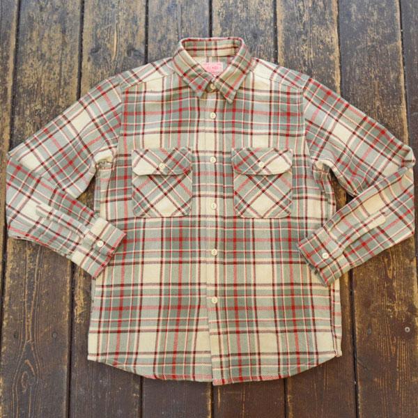 ビッグマイク BIG MIKE ヘビーフランネルシャツ HEAVY FLANNEL SHIRT NATURAL/MINT