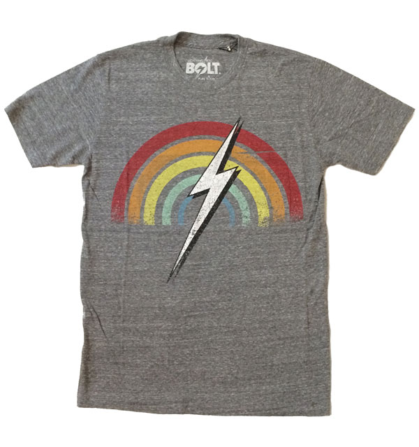 ライトニングボルト 【Lightning Bolt】 RAINBOW POCKET TEE  HEATHER GRAY