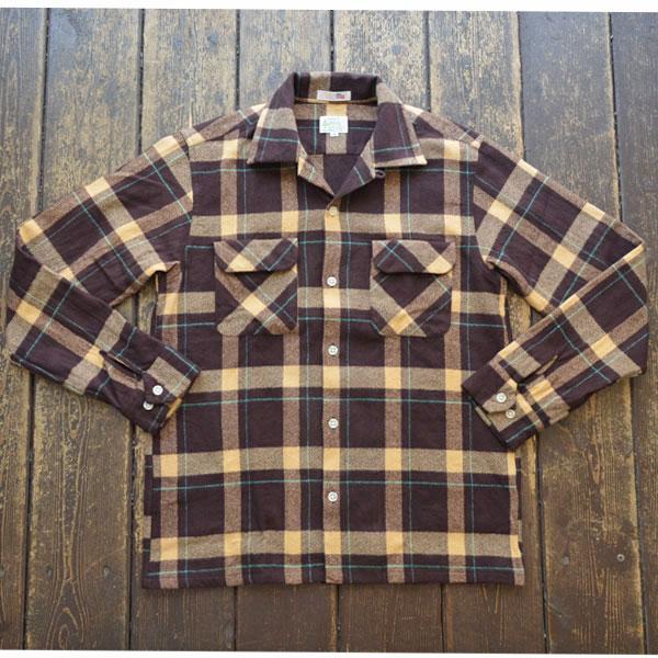 ブルーウォーター BLUE WATER フランネルオープンチェックシャツ FLANNEL OPENSHIRT BROWN/BEIGE