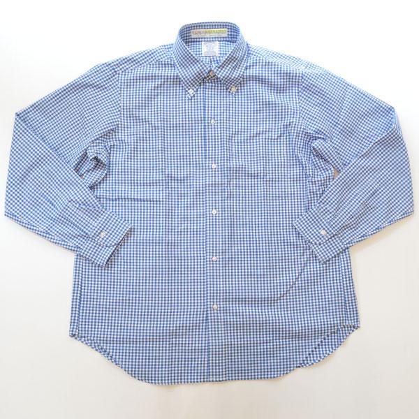 ブルーウォーター BLUE WATER ボタンダウン ギンガムチェックシャツ オウンメイク ROYAL BLUE