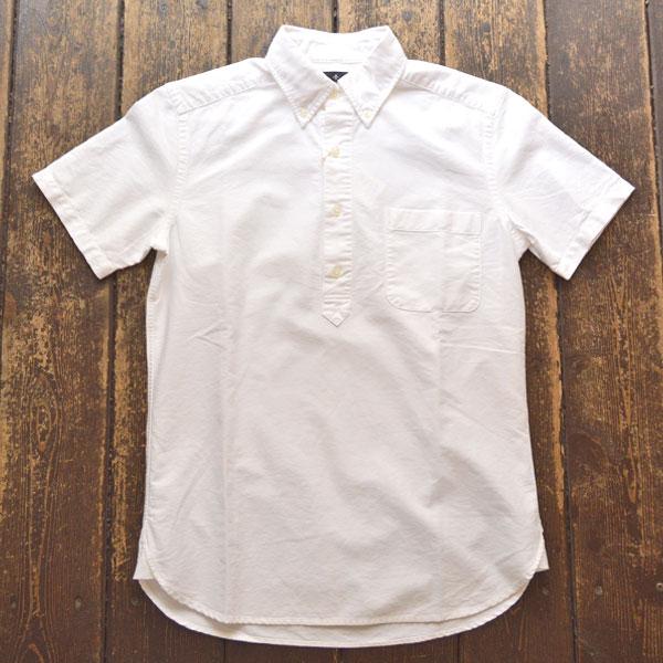 カンディデュム CANDIDUM オックスフォードプルオーバーシャツ WHITE