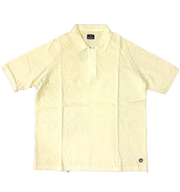 キャンディダム (arbre) 【Candidum】 後染めコットン半袖ポロシャツ YELLOW