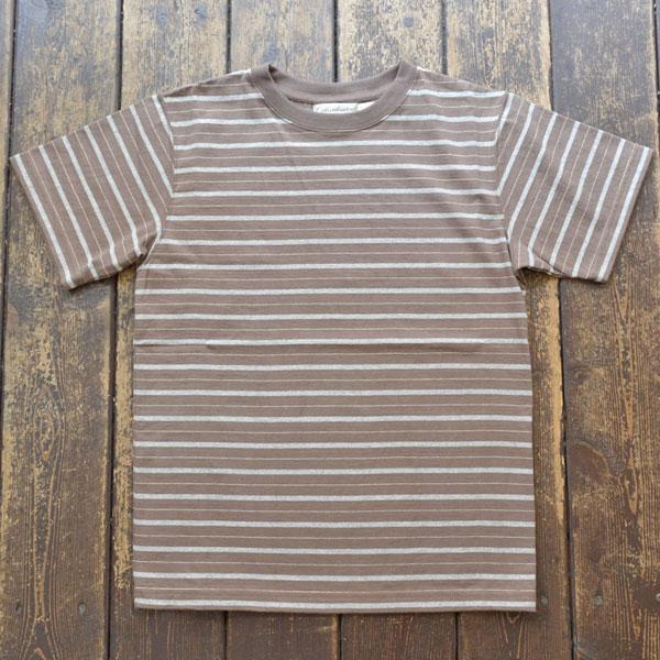 コロンビアニット Columbia knit ボーダーストライプTシャツ EX.S/S Williamette Stripe Tee MADE IN USA BROWN
