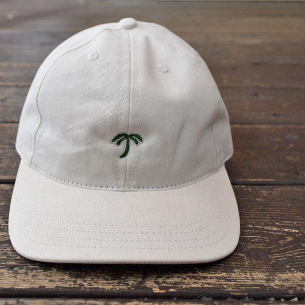 クーパーズタウン ボールキャップ Coopers Town Ball Cap 6P コットンロゴキャップ Brushed Cotton Small Logo Cap PALM OFF WHITE