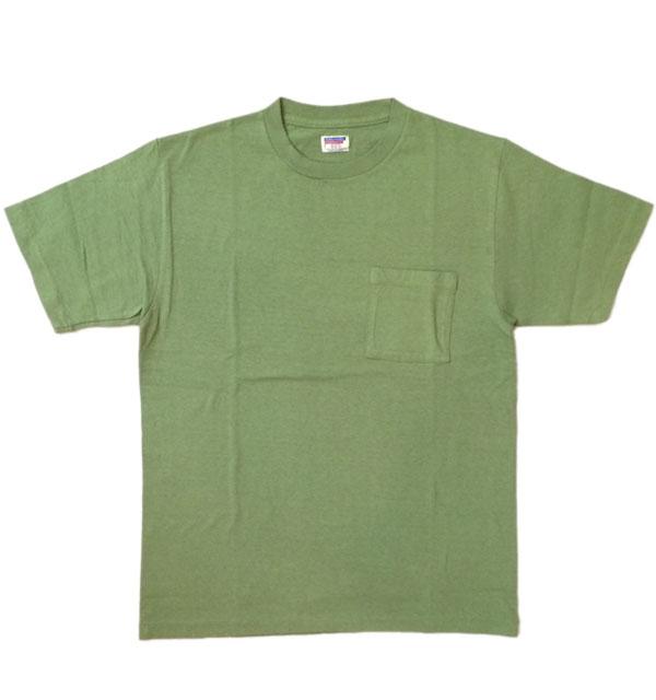 ダブルワークス 【DUBBLE WORKS】 ラフィ天竺 ポケットTシャツ POCKET T-SHIRT 無地 PLAIN GREEN