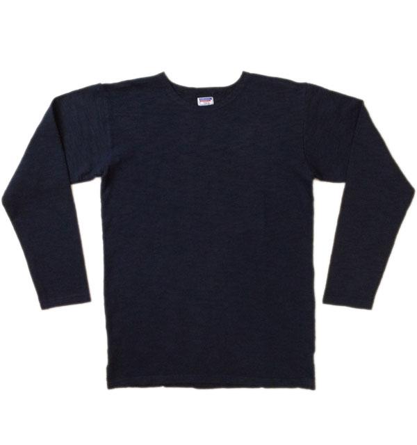 ダブルワークス 【DUBBLE WORKS】 Lot.56001 BOAT NECK L/S T-SHIRTS スラブボートネックTシャツ NAVY