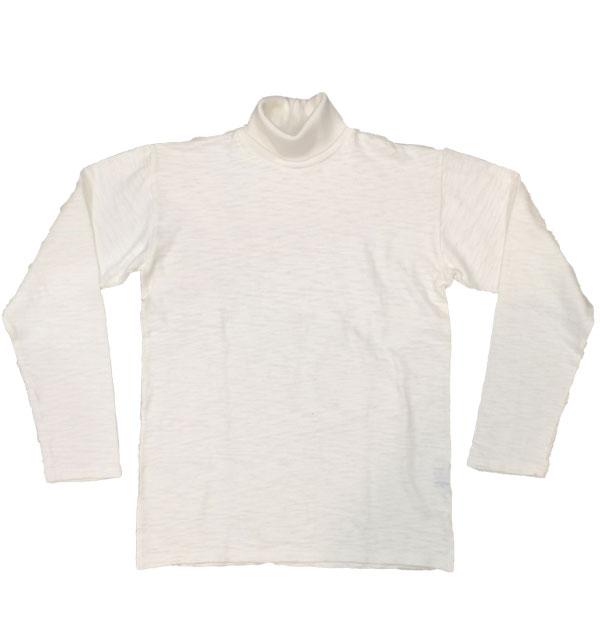 ダブルワークス 【DUBBLE WORKS】 Lot.56002 TURTLE NECK L/S T-SHIRTS スラブタートルネックTシャツ WHITE