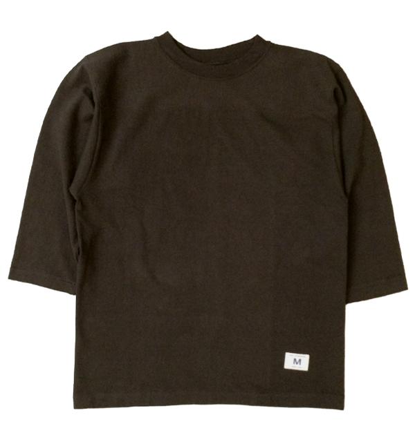 ダブルワークス DUBBLE WORKS 度詰め フットボール7分袖Tシャツ 無地 HEAVY WEIGHT FOOTBALL T-SHIRTS PLAIN BLACK