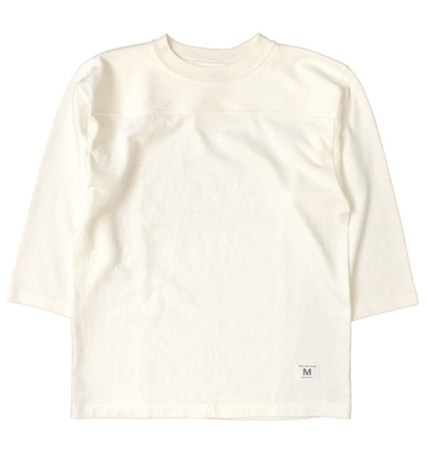 ダブルワークス 【DUBBLE WORKS】 度詰め フットボール7分袖Tシャツ 無地 HEAVY WEIGHT FOOTBALL T-SHIRTS PLAIN WHITE