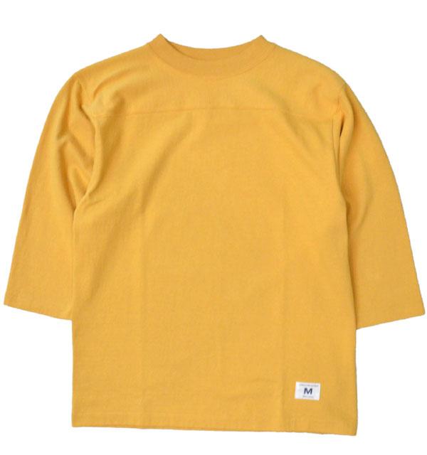 ダブルワークス 【DUBBLE WORKS】 度詰め フットボール7分袖Tシャツ 無地 HEAVY WEIGHT FOOTBALL T-SHIRTS PLAIN OAKER