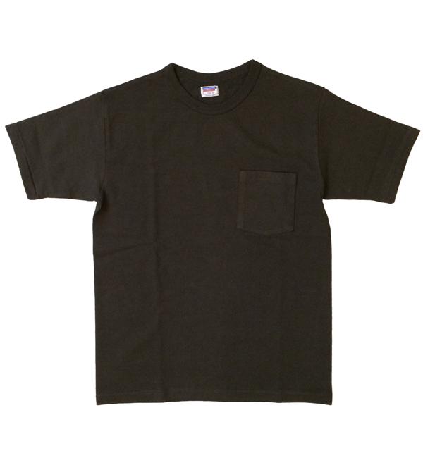 ダブルワークス DUBBLE WORKS 8番手 度詰め丸胴天竺 ポケットTシャツ HEAVY WEIGHT POCKET TEE Lot.37002 BLACK