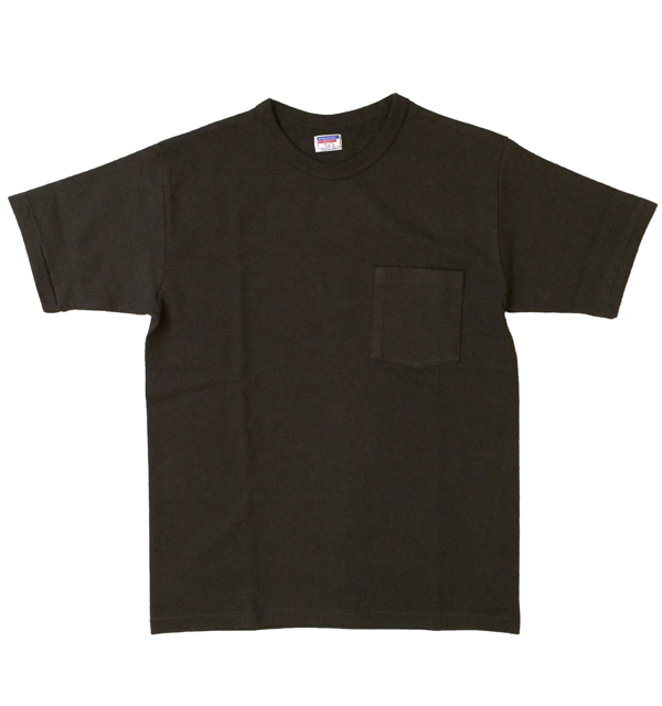 ダブルワークス 【DUBBLE WORKS】 8番手 度詰め丸胴天竺 ポケットTシャツ HEAVY WEIGHT POCKET TEE Lot.37002 BLACK