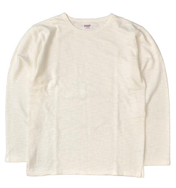 ダブルワークス 【DUBBLE WORKS】 Lot.56001 BOAT NECK L/S T-SHIRTS スラブボートネックTシャツ WHITE