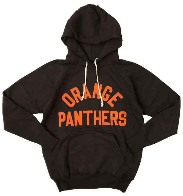 ダブルワークス 【DUBBLE WORKS】 プルオーバーパーカー PULLOVER PARKA ORENGE PANTHERS BLACK