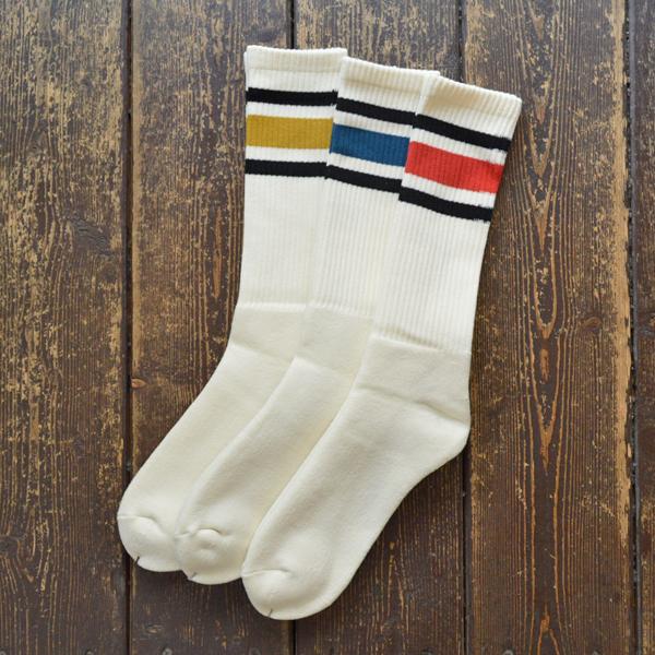 デカ decka ミドルスケーター ラインソックス 80's Skater Socks 3COLOR