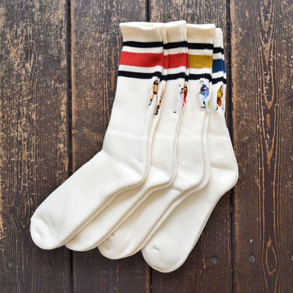 BRU NA BOINNE × decka quality socks 80's スケーターソックス SK8 socks