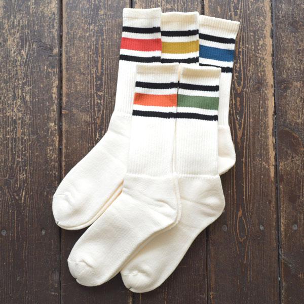 デカ decka ミドルスケーター ラインソックス 80's Skater Socks