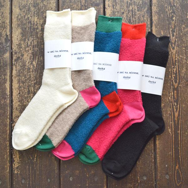 BRU NA BOINNE × decka quality socks Alpaca boucle socks アルパカ ブークレ ソックス