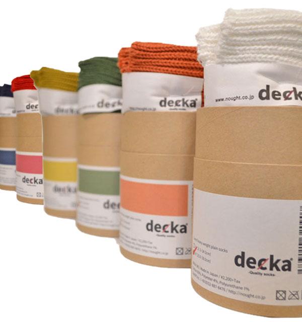 デカ decka ヘビーウェイトプレーンリブソックス Cased heavy weight plain socks 6COLOR