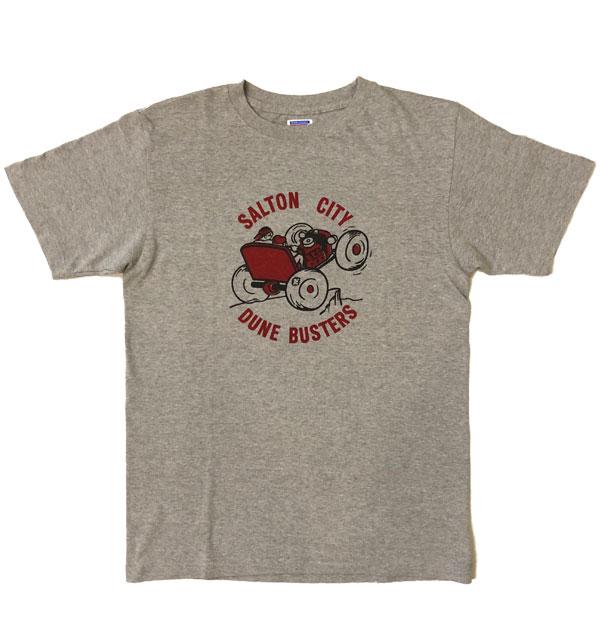 ダブルワークス 【DUBBLE WORKS】 ラフィ天竺 プリントTシャツ PRINT T-SHIRT SALTON CITY GRAY