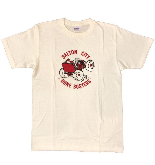 ダブルワークス 【DUBBLE WORKS】 ラフィ天竺 プリントTシャツ PRINT T-SHIRT SALTON CITY WHITE