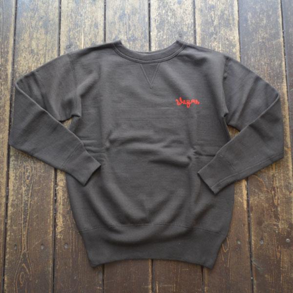 ダブルワークス DUBBLE WORKS 刺繍入り スウェットシャツ SweatShirt  JOE'SRABBITRY 82001 BLACK