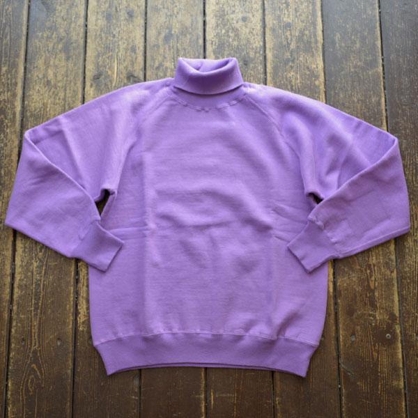 ダブルワークス DUBBLE WORKS タートルネック スウェットシャツ Turtleneck SweatShirt Lot.85003 PURPLE