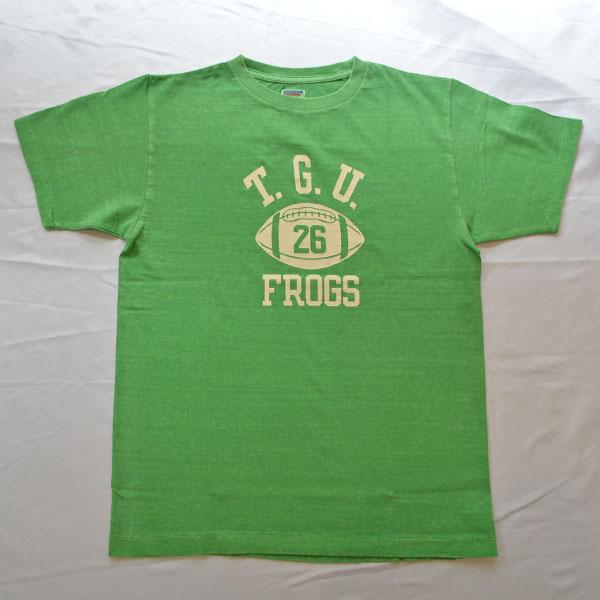ダブルワークス DUBBLE WORKS ピグメント染め ラフィ天竺 プリントTシャツ PRGREENINT T-SHIRT T.G.U 33005PD GREEN