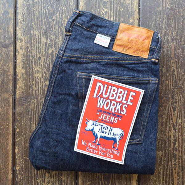 ダブルワークス DUBBLE WORKS スリムフィットデニム Slim Fit Denim Lot332 ONEWASH