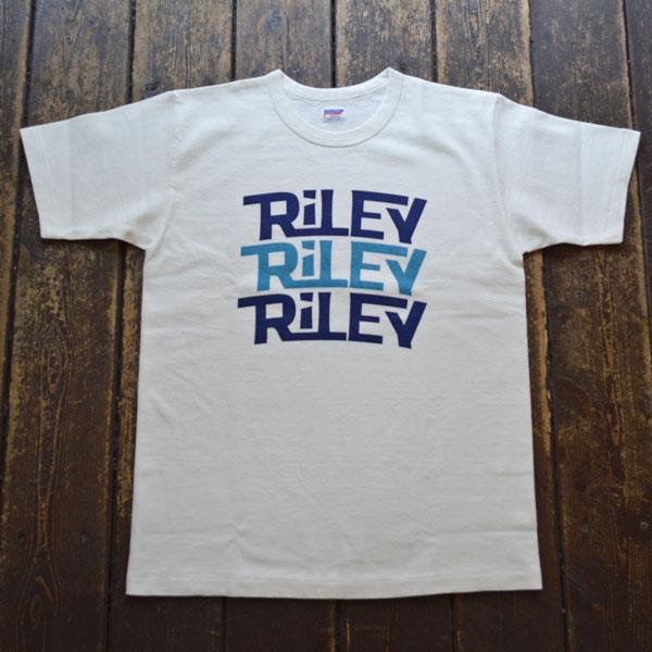 ダブルワークス DUBBLE WORKS 8番手 度詰め丸胴天竺 プリントTシャツ HEAVY WEIGHT PRINT TEE Lot.37001 RILEY WHITE
