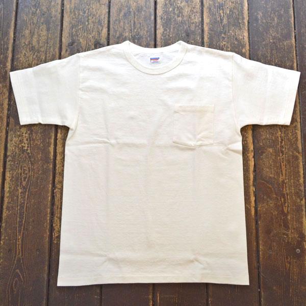 ダブルワークス DUBBLE WORKS 8番手 度詰め丸胴天竺 ポケットTシャツ HEAVY WEIGHT POCKET TEE Lot.37002 WHITE
