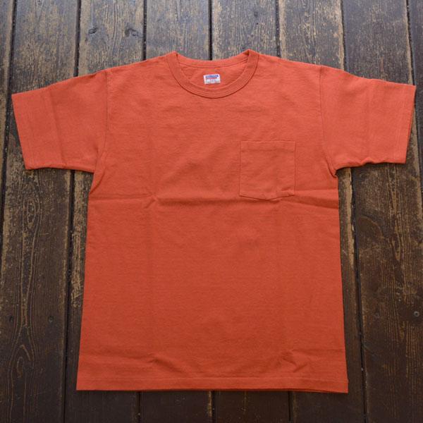 ダブルワークス DUBBLE WORKS 8番手 度詰め丸胴天竺 ポケットTシャツ HEAVY WEIGHT POCKET TEE Lot.37002 RED