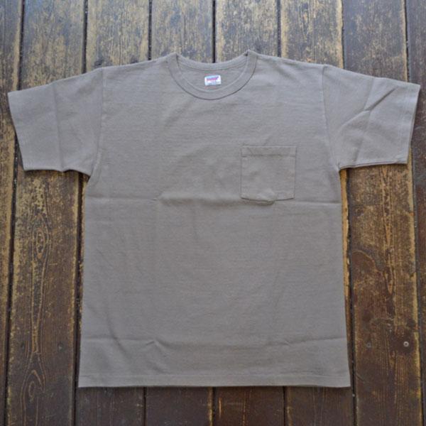 ダブルワークス DUBBLE WORKS 8番手 度詰め丸胴天竺 ポケットTシャツ HEAVY WEIGHT POCKET TEE Lot.37002 GRAY
