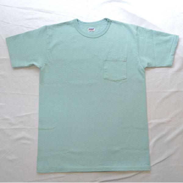 ダブルワークス DUBBLE WORKS 8番手 度詰め丸胴天竺 ポケットTシャツ HEAVY WEIGHT POCKET TEE Lot.37002 MINT