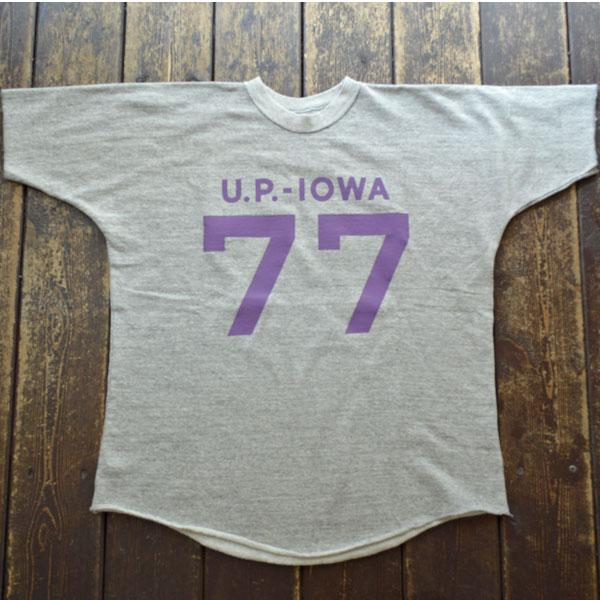ダブルワークス DUBBLE WORKS ドルマンスリーブ ライトウェイトスウェットシャツ Dolman Sleeve Light Weight Sweat Shirts U.P.IOWA Lot.79001 GRAY