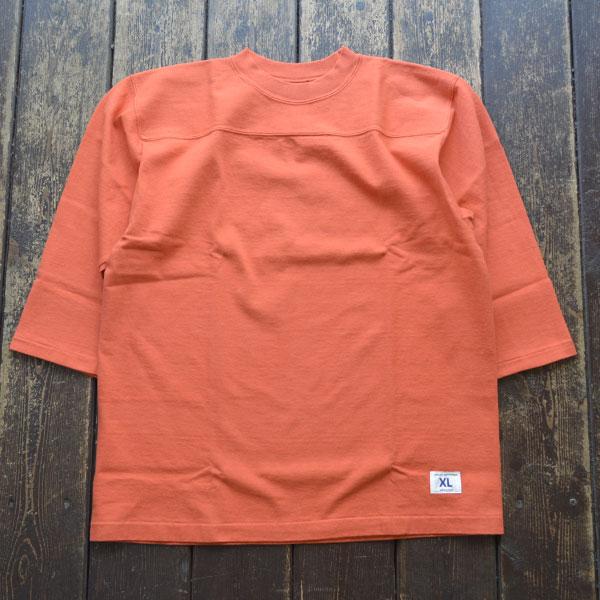 ダブルワークス DUBBLE WORKS 度詰め フットボール7分袖Tシャツ 無地 HEAVY WEIGHT FOOTBALL T-SHIRTS PLAIN Lot.57001 RED