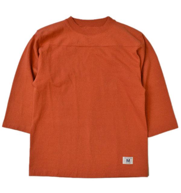 ダブルワークス DUBBLE WORKS 度詰め フットボール7分袖Tシャツ 無地 HEAVY WEIGHT FOOTBALL T-SHIRTS PLAIN RED