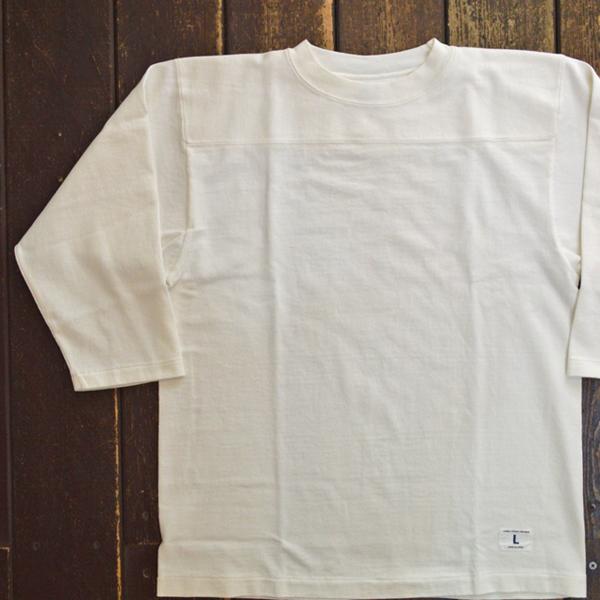 ダブルワークス DUBBLE WORKS 度詰め フットボール7分袖Tシャツ 無地 HEAVY WEIGHT FOOTBALL T-SHIRTS PLAIN WHITE