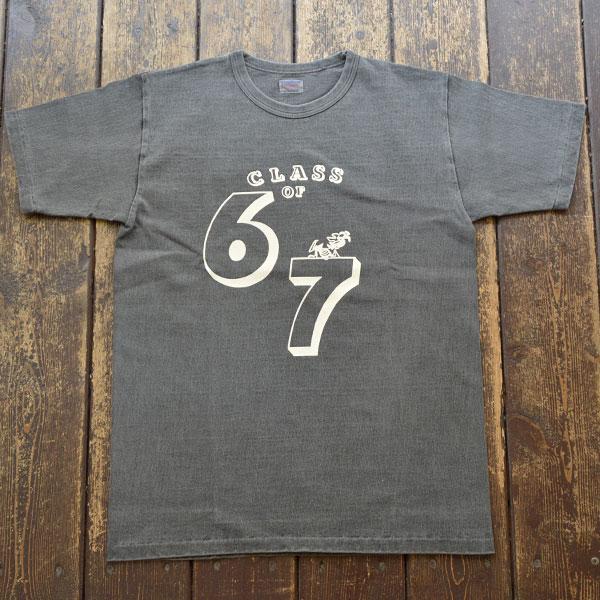 ダブルワークス DUBBLE WORKS ピグメント染め 8番手 度詰め丸胴天竺 プリントTシャツ Lot.37001PD 67 BLACK