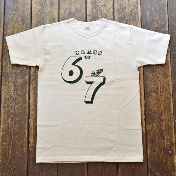ダブルワークス DUBBLE WORKS ピグメント染め 8番手 度詰め丸胴天竺 プリントTシャツ Lot.37001PD 67 OFF WHITE
