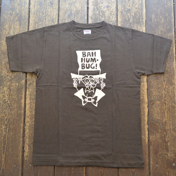 ダブルワークス DUBBLE WORKS ラフィ天竺 プリントTシャツ PRINT T-SHIRT BAH HUMBAG 33005 BLACK