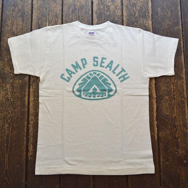 ダブルワークス DUBBLE WORKS ラフィ天竺 プリントTシャツ PRINT T-SHIRT CAMP SEALTH 33005 WHITE