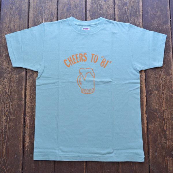ダブルワークス DUBBLE WORKS ラフィ天竺 プリントTシャツ PRINT T-SHIRT CHEER TO 81 33005 MINT