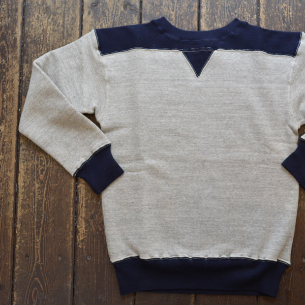ダブルワークス DUBBLE WORKS 吊り編み 2TONE TSURIAMI SWEAT SHIRTS LOT.88005 GRAY/NAVY