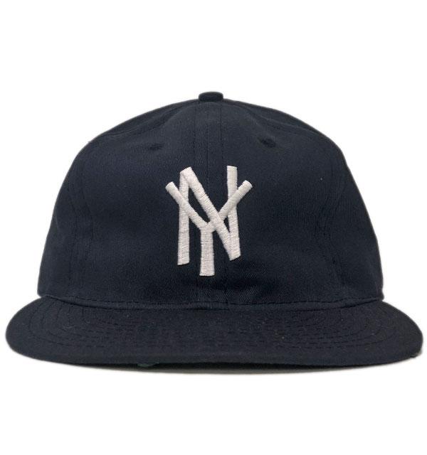 エベッツフィールドフランネル  【EBBETS FIELD FLANNELS】 コットンツイルベースボールキャップ COTTON TWILL CAP NEW YORK MAMMOTHS 1972 NAVY